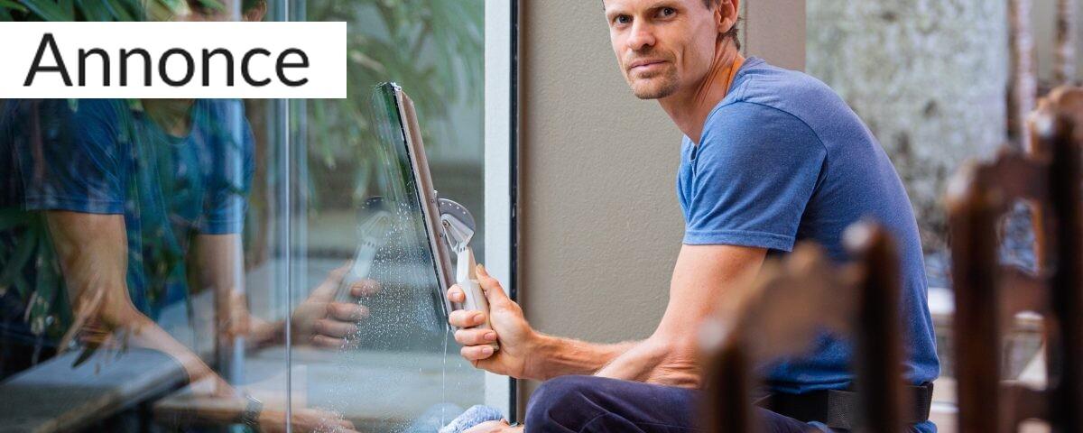 Brug en vinduespudser